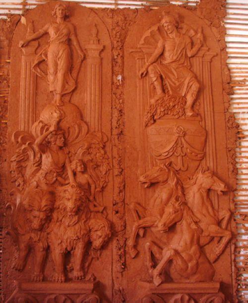 欧式浮雕泥稿